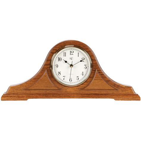 Clock Made Of Clocks by Radio Controlled Tambour Mantel Clock With Oak Finish