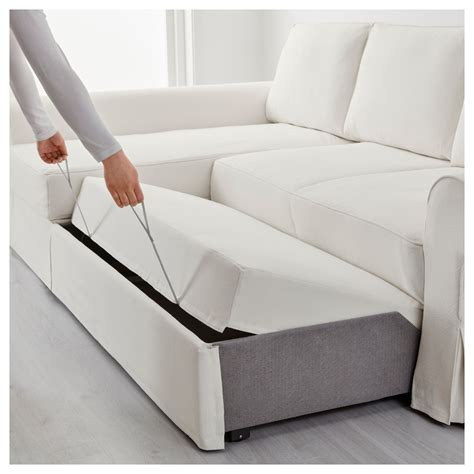 Backabro Sofa Bed With Chaise Longue Hylte White Ikea Sofa Bed White