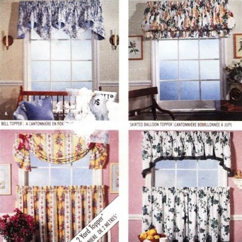 cafe curtain patterns cafe curtain pattern valance swag balloon topper mccalls