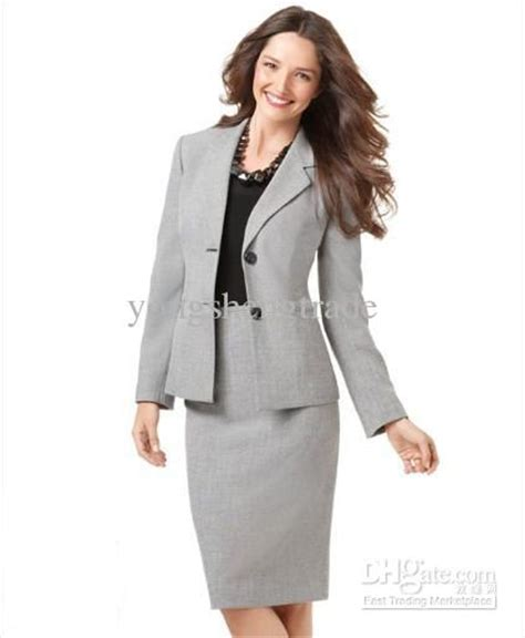 2017 light gray suit skirt suit clothes