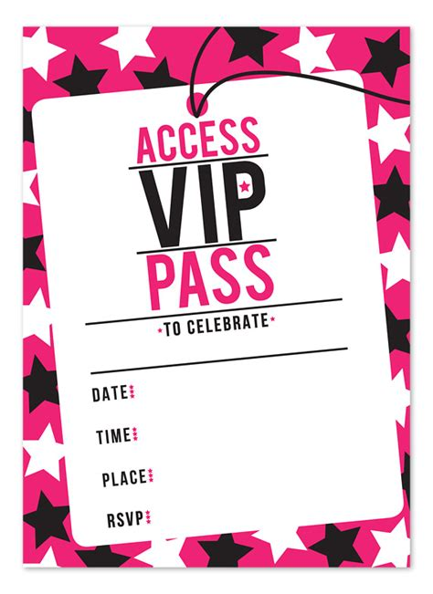 vip backstage pass template blank invitation template images
