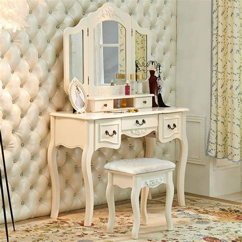 Dressing Table Vanity Sets by Vintage White Wood Vanity Dressing Table Set Makeup