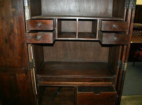 hidden desk armoire hidden armoire chest computer desk drawer cabinet ebay