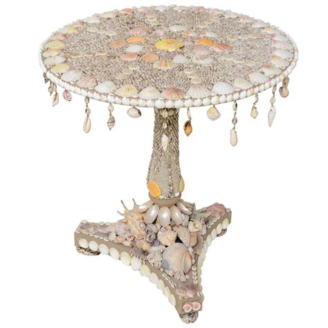 Shell Table by A Sea Shell Encrusted Center Table At 1stdibs