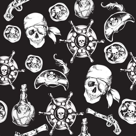 pattern for pirates pirate pattern vector free download