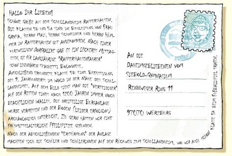 Urlaub Brief Beispiel Gr 252 223 E Aus Rappershausen Siebold Gymnasium W 252 Rzburg
