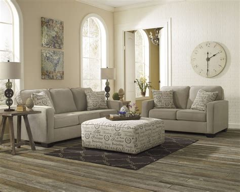 lemoore sofa and loveseat alenya quartz living room set from ashley 16600 38 35