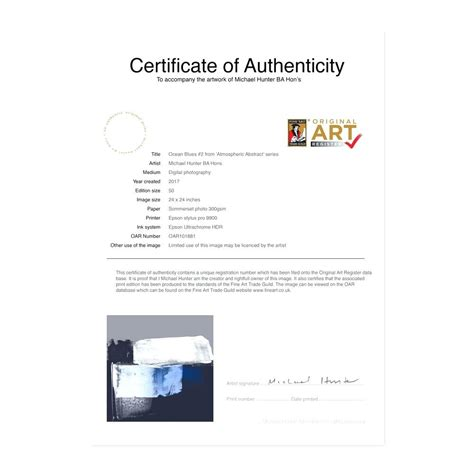 certificate of authenticity photography template 28 photography certificate of authenticity template