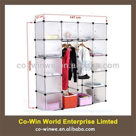 Standing Wardrobe Rack by Diy Plastic Wardrobe Closet Storage Organizer Hanger