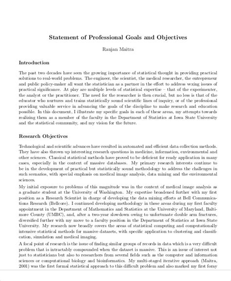 statement of the objectives sle statement of professional objectives 28 images resume