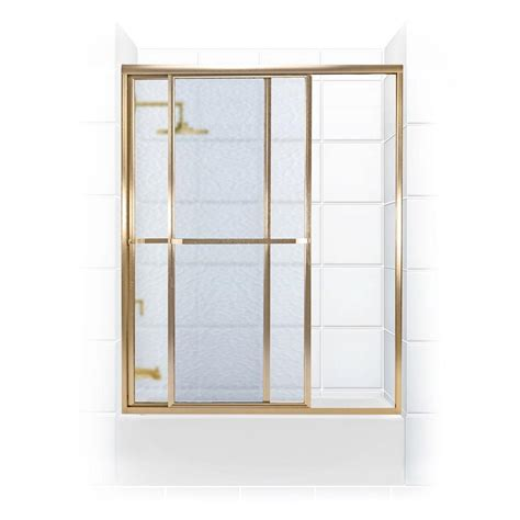 Gold Shower Doors Coastal Shower Doors Paragon Series 66 In X 58 In Framed Sliding Tub Door With Towel Bar In