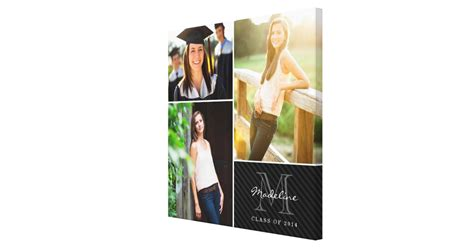 graduation collage print custom monogram graduation 2014 photo collage canvas print