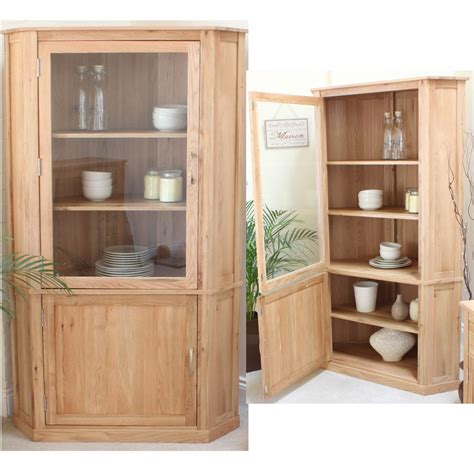 Corner Cabinets Dining Room Furniture Conran Solid Oak Furniture Corner Display Cabinet Dining Room Cupboard Ebay