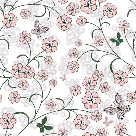 floral pattern repeat vector repeating white floral pattern with pink flowers and