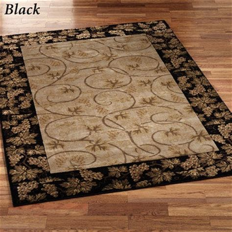 Tuscan Style Area Rugs Tuscan Black Rug Tuscan Style Pinterest
