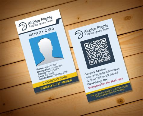 id card design template download 2 free company employee identity card design templates