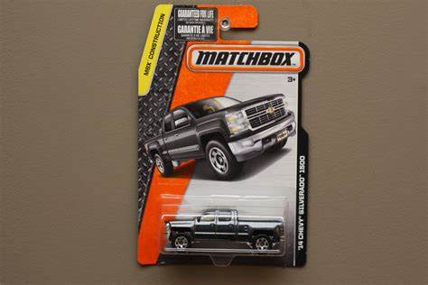 matchbox chevy silverado matchbox 2016 mbx construction 14 chevy silverado grey