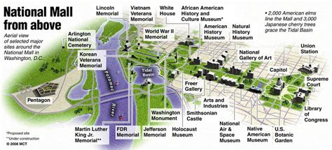 blue guide museums and 3d national mall aerial map favorite places