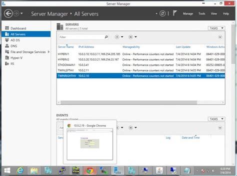 hyper v manager console how to setup hyper v replication