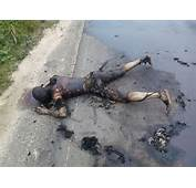 Graphic Photos Man Burnt To Death In Fatal Car Accident Along PH