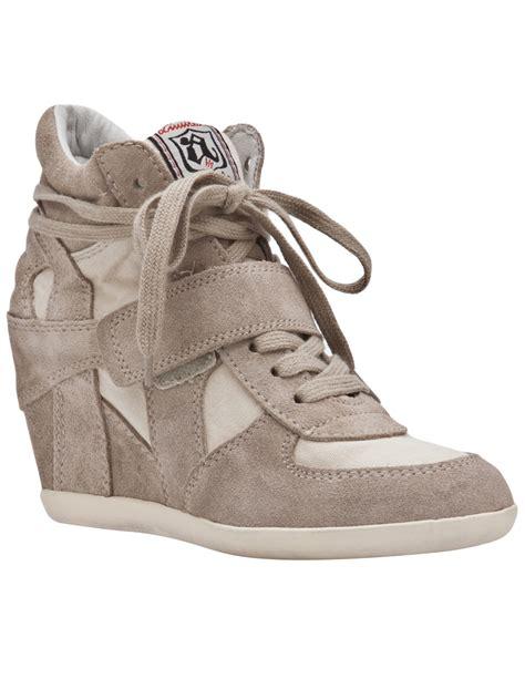ash wedge sneaker ash bowie wedge sneaker in brown clay lyst