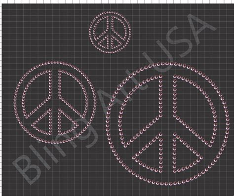 design pattern unity rhinestone peace sign templates pattern art stencil peace
