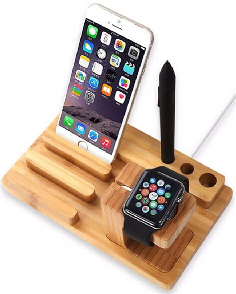 Set Of 5 Mobile Stand stylish wooden stands for tablet and phone