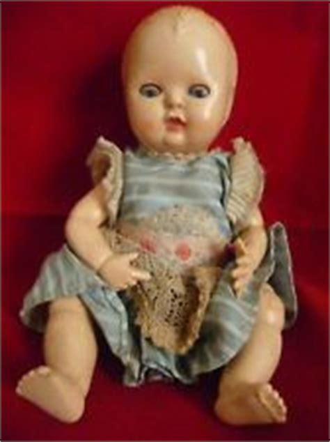 Rosebud Pipih 1950s doll with glassine glass style plastic