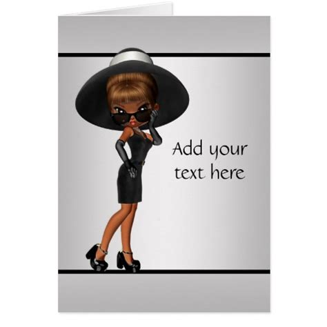 Afro American Birthday Cards African American Fun Diva Greeting Card Myideasbedroom Com