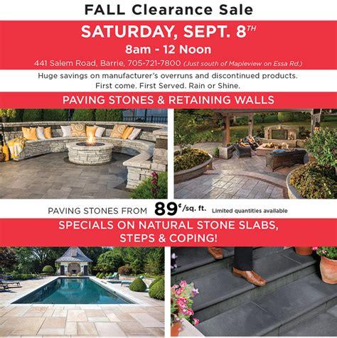 unilock sale unilock barrie annual clearance sale unilock events