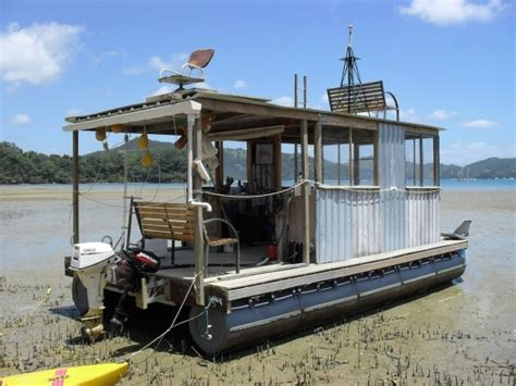tiny house boats build your own pontoon houseboat and escape to open waters tiny house for us