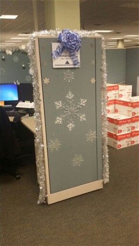 winter cube decorations winter cubicle inspiring ideas cubicles and winter