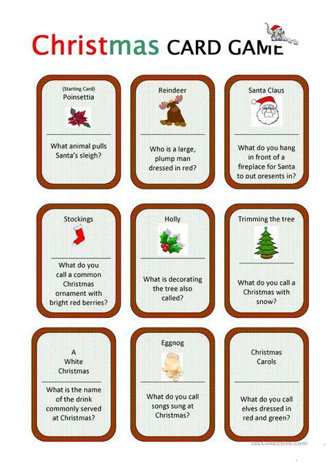 printable christmas english games christmas card game worksheet free esl printable