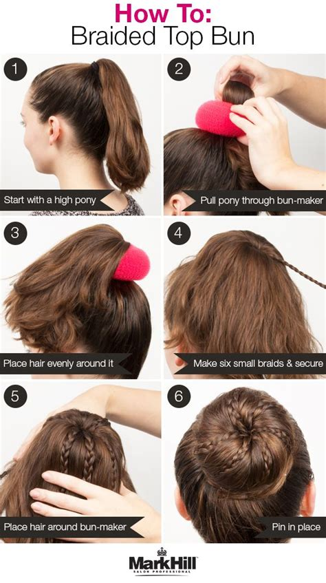 how to use a bun builder who says buns can t be glam add some braids and use a bun