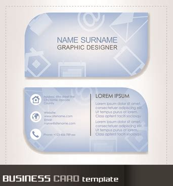 rounded business card template illustrator logo templates free vector