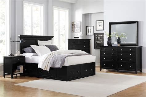 ellsworth pc queen storage bedroom black