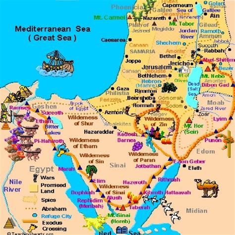 middle east map new testament testament map of promise land including gaza