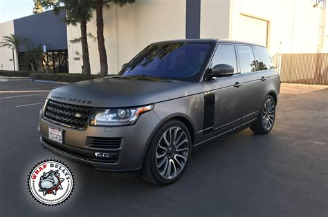 wrapped range rover autobiography range rover wrapped in 3m matte gray wrap bullys