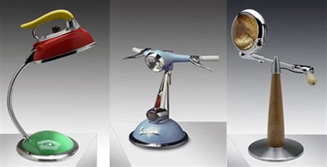 Lamponi Lamps Made From Recycled Motorcycle Parts Where To Recycle Lights