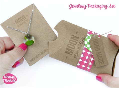 How To Make Paper Products - kraft paper simple blank jewelry packaging set pillow
