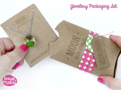 kraft paper simple blank jewelry packaging set pillow