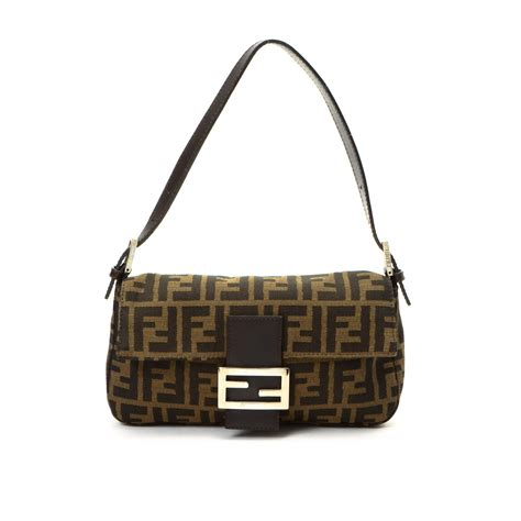 Canvas And Wicker B Fendi Bag by Buy Canvas Fendi Shoulder Bag At Lxr Co