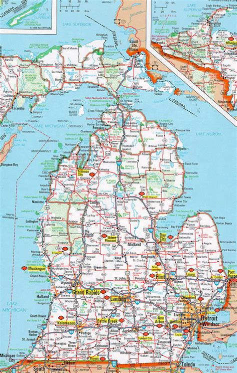 printable road maps of michigan best photos of large print map of michigan southeast