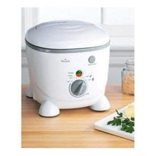 rival kitchen appliances rival deep fryer with locking lid and filter white