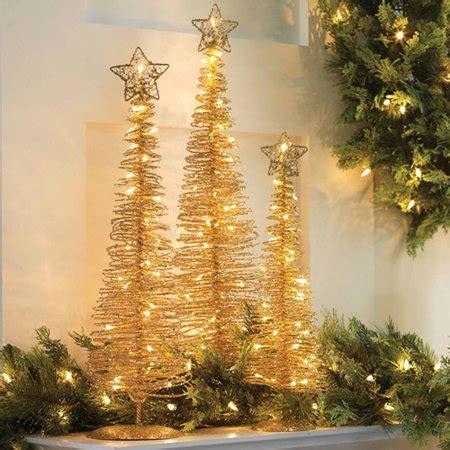 walmart spiral christmas tree lighted gold spiral trees walmart