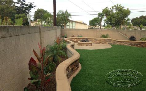 planter pit pit and planter wall tropical landscape orange