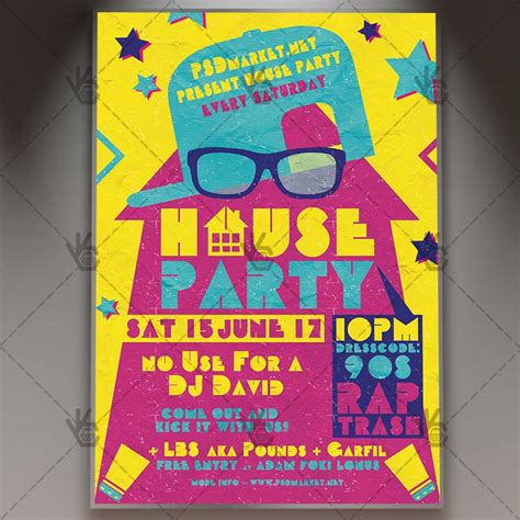 house party flyers design house party premium flyer psd template psdmarket