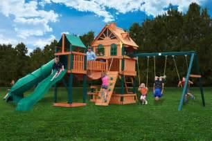Wooden Playground Sets Lowest Price On The Gorilla Woodbridge Playset Swingset