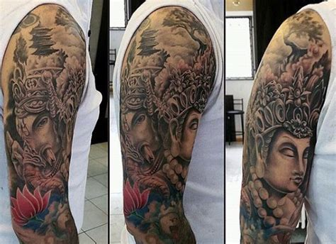 ganesh tattoo half sleeve 90 ganesh tattoo designs for men hindu ink ideas