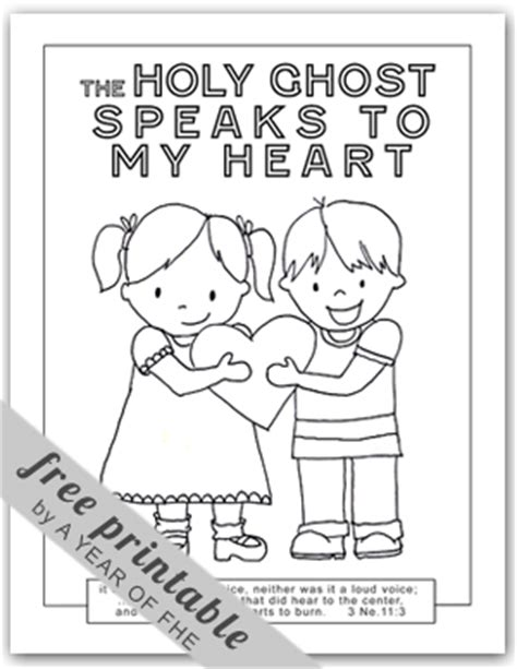 Holy Ghost Coloring Page A Year Of Fhe 2011 Wk 43 The Holy Ghost